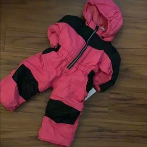 Pink snowsuit 12 month